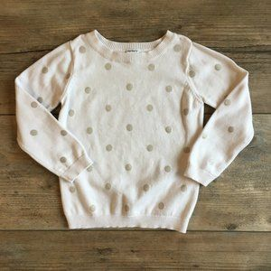 Carter's 3T White Sweater with Polka Dots